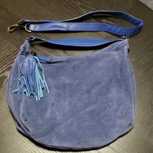 Kenneth cole navy suede hobo